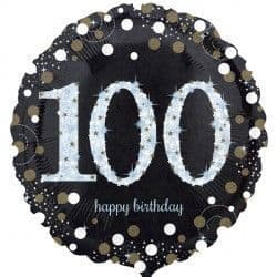 "18"" Gold Sparkling Celebration 100th Birthday"