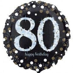 "18"" Gold Sparkling Celebration 80th Birthday"