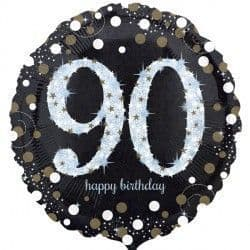"18"" Gold Sparkling Celebration 90th Birthday"