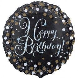 "18"" Gold Sparkling Celebration Happy Birthday"