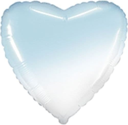 "18"" Gradient Baby Blue Heart Unpackaged"