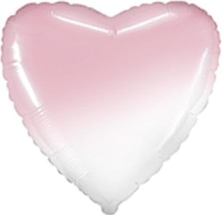 "18"" Gradient Baby Pink Heart Unpackaged"