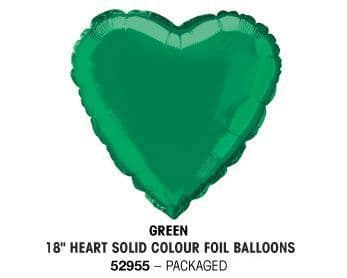 "18"" GREEN HEART PACKAGED"