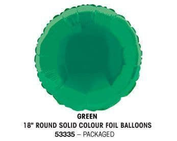 """18"""" GREEN ROUND PACKAGED"""