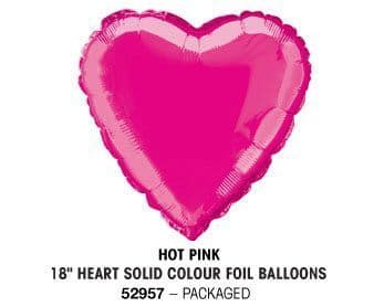 "18"" HOT PINK HEART PACKAGED"