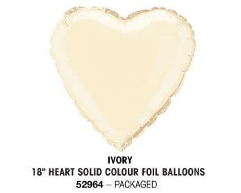 "18"" IVORY HEART PACKAGED"