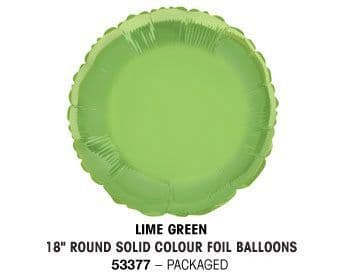 """18"""" LIME GREEN ROUND PACKAGED"""