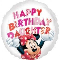 """18"""" MINNIE MOUSE HAPPY BIRTHDAY DAUGHTER"""