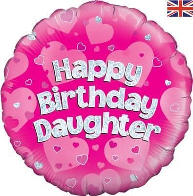 """18"""" Oaktree Happy Birthday Daughter Holographic"""