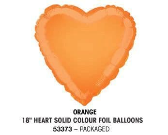 "18"" ORANGE HEART PACKAGED"