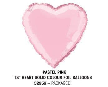 "18"" PASTEL PINK HEART PACKAGED"