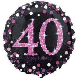 "18"" Pink Sparkling Celebration 40th"