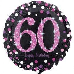 "18"" Pink Sparkling Celebration 60th"