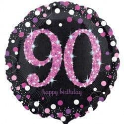 "18"" Pink Sparkling Celebration 90th"