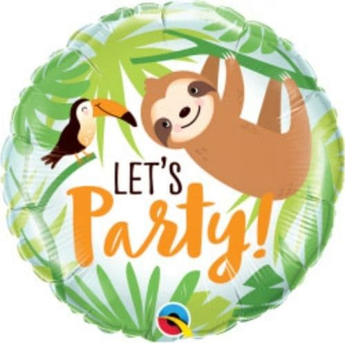 """18"""" Toucan and Sloth Let's Party"""