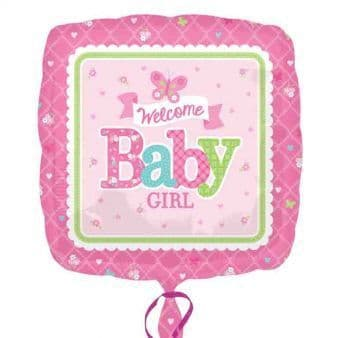 """18"""" Welcome Baby Girl Butterfly"""