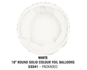 """18"""" WHITE ROUND PACKAGED"""