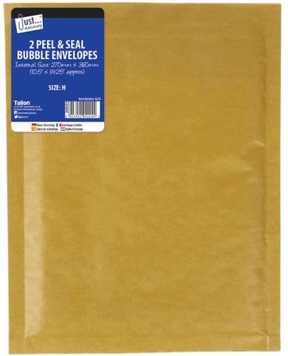 2 Bubble Envelopes Size H 270 x 360