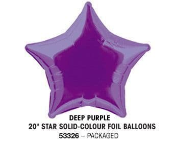 "20"" DEEP PURPLE STAR PACKAGED"