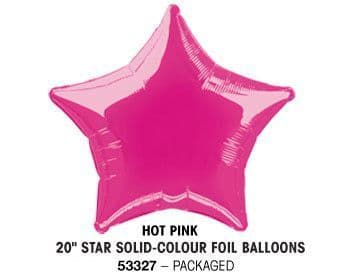 "20"" HOT PINK STAR PACKAGED"