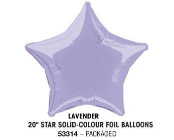 "20"" LAVENDER STAR PACKAGED"