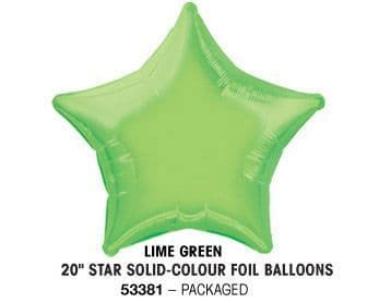 "20"" LIME GREEN STAR PACKAGED"