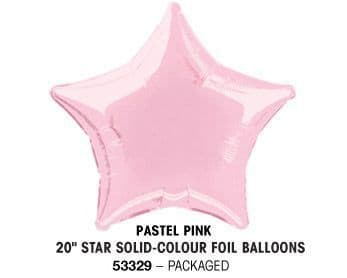 "20"" PASTEL PINK STAR PACKAGED"