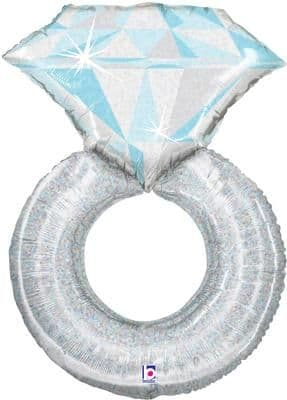 38inch Platinum Wedding Ring Holographic (D) Packaged