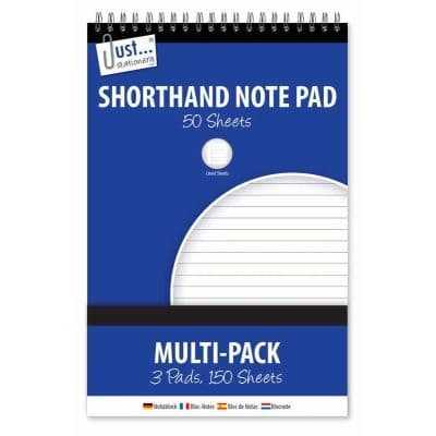 3x100 Page Shorthand& Notebooks 50gsm