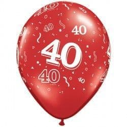 """40-A-ROUND 11"""" RUBY RED (25CT)"""