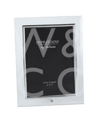 "5"" x 7"" - Glass Photo Frame Silver Colour Insert gift"