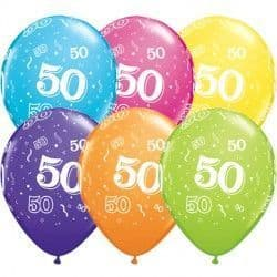 """50-A-ROUND 11"""" TROPICAL ASSORTED (50CT)"""