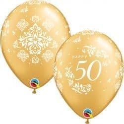 "50TH ANNIVERSARY DAMASK 11"" GOLD (25CT)"
