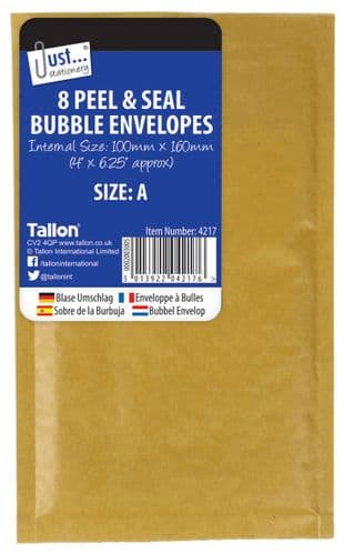 8 Bubble Envelopes Size A 160 x 100