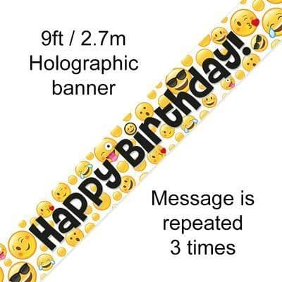 9ft Banner Emoji Birthday
