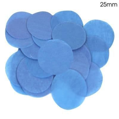 Blue Paper Confetti 25mm