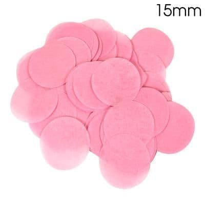 Light Pink Paper Confetti 15mm