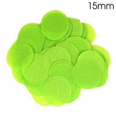 Lime Green Paper Confetti 15mm