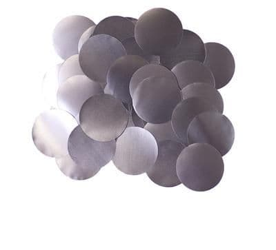Oaktree Metallic Pearl Foil Confetti 10mm x 50g Graphite
