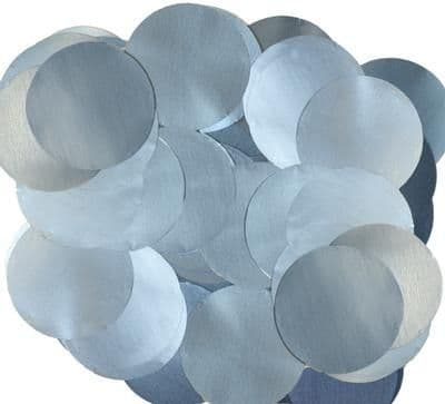 Oaktree Metallic Pearl Foil Confetti 25mm x 50g Lt.Blue