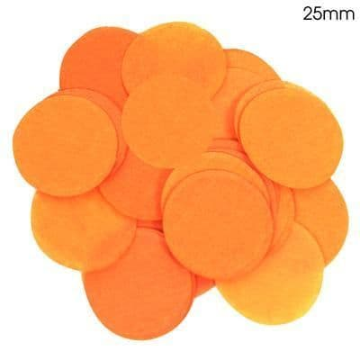 Orange Paper Confetti 25mm