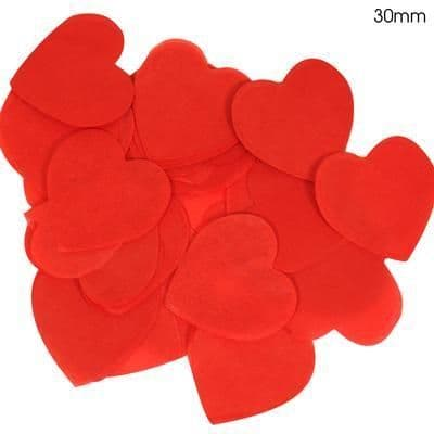 Red Paper Heart Confetti 30mm