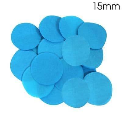 Turquoise Paper Confetti 15mm