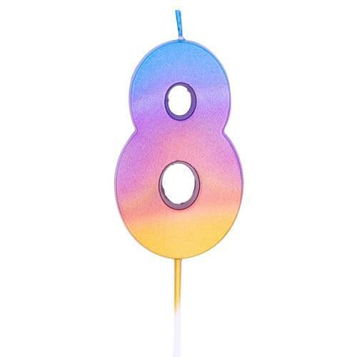 AGE EIGHT RAINBOW OMBRE CANDLE (1)