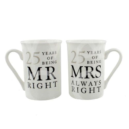 Amore Gift Set - 25 Years Of Mr Right/Mrs Always Right gift