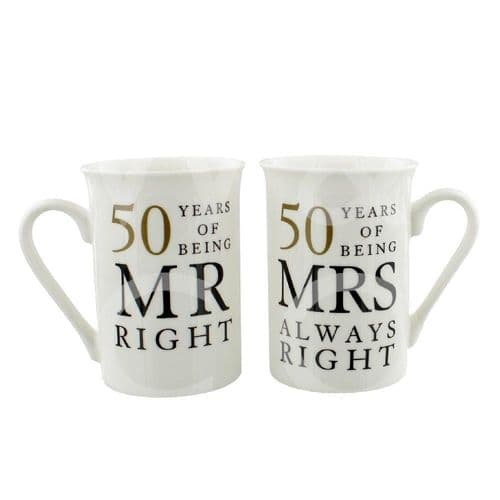 Amore Gift Set - 50 Years Of Mr Right/Mrs Always Right gift