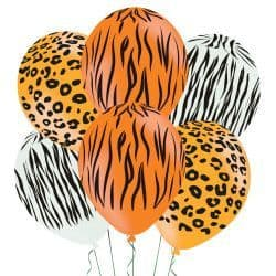 "Amscan 11"" ANIMAL PRINT 11"" ASSORTED AMSCAN (6CT)"