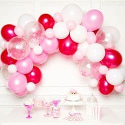 AMSCAN PINK DIY GARLAND BALLOON KIT (CONTAINS 70 BALLOONS)