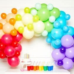 AMSCAN PRIMARY DIY GARLAND BALLOON KIT (CONTAINS 78 BALLOONS)