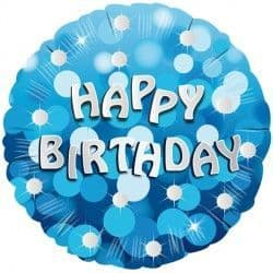 """Anagram 18"""" Blue Sparkle Party Happy Birthday Packaged"""